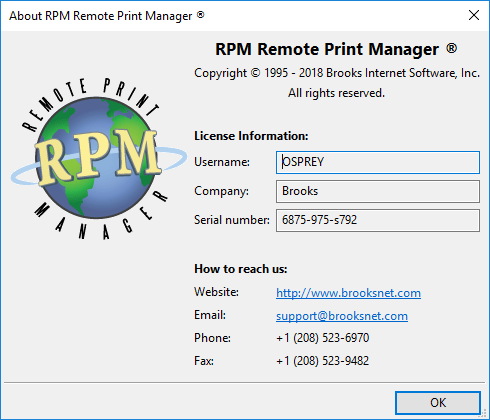 About RPM with license info