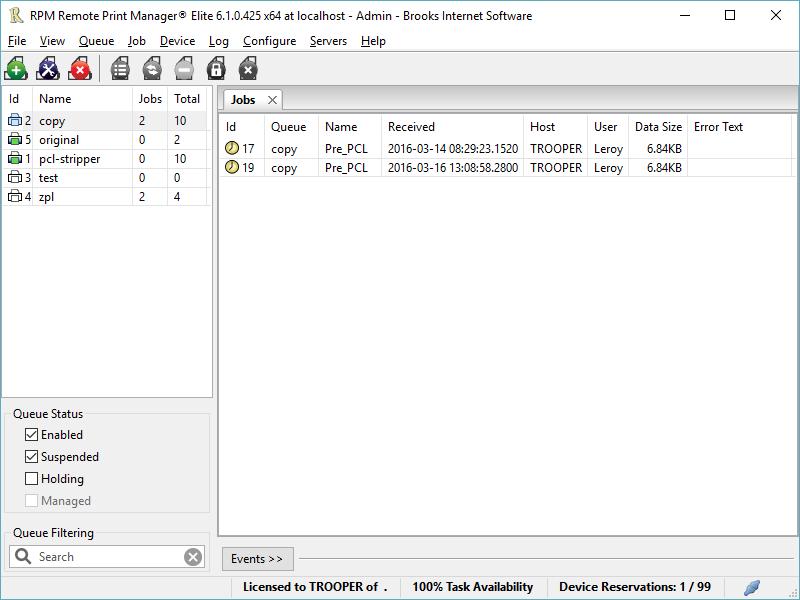 RPM Remote Print Manager Elite 64 Bit